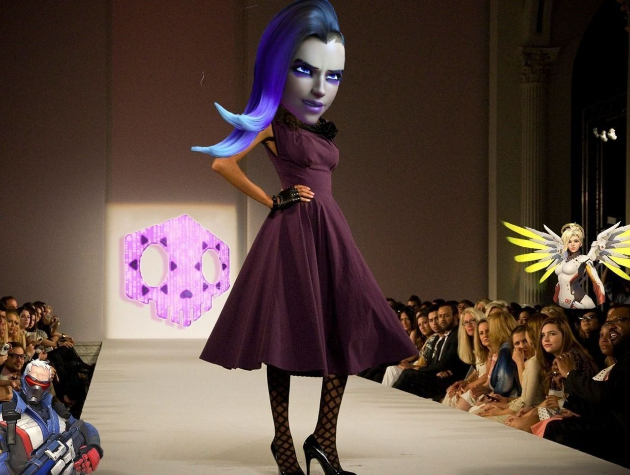 Cropped sombra fashion show